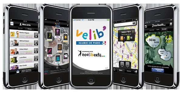 application Vélib sur iPhone