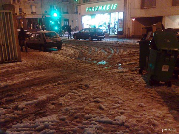 Quand la neige fond, les rues ne sont plus que des tas de boue et de glace...
