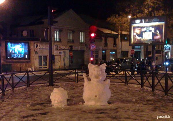 Bonhommes de neige rigolos =D !