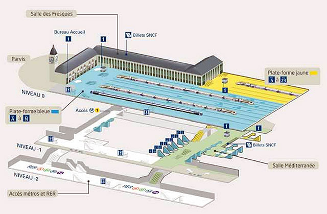 Les gares de paris aujourd 39 hui la gare de lyon infos 75 - Gare de lyon jardin des plantes ...