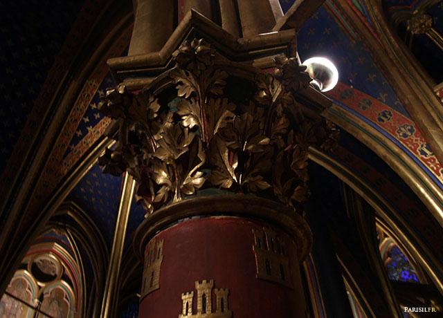 Détail d'un chapiteau de la Chapelle Basse